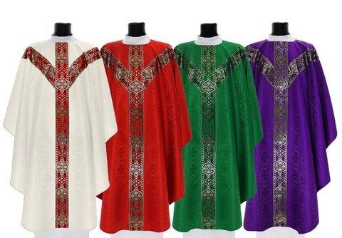 Set of Semi Gothic Chasubles model 201