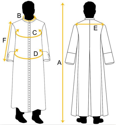 Black Cassock with shoulder cape