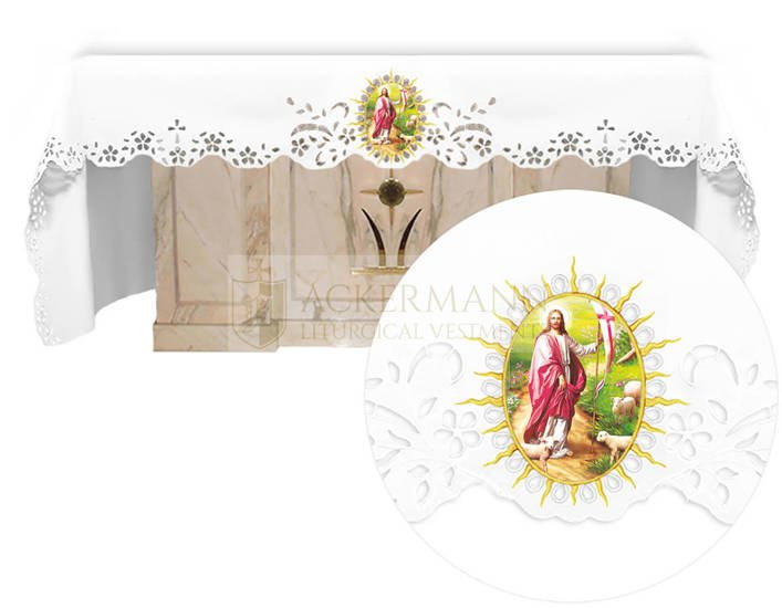 Altar cloth - Openwork with an Easter theme 734