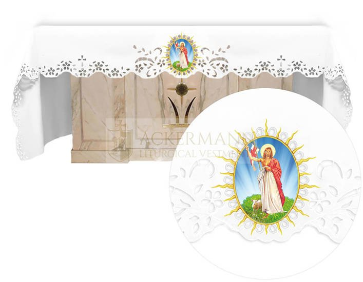 Altar cloth - Openwork with an Easter theme 735
