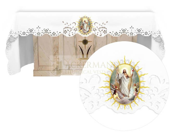Altar cloth - Openwork with an Easter theme 744