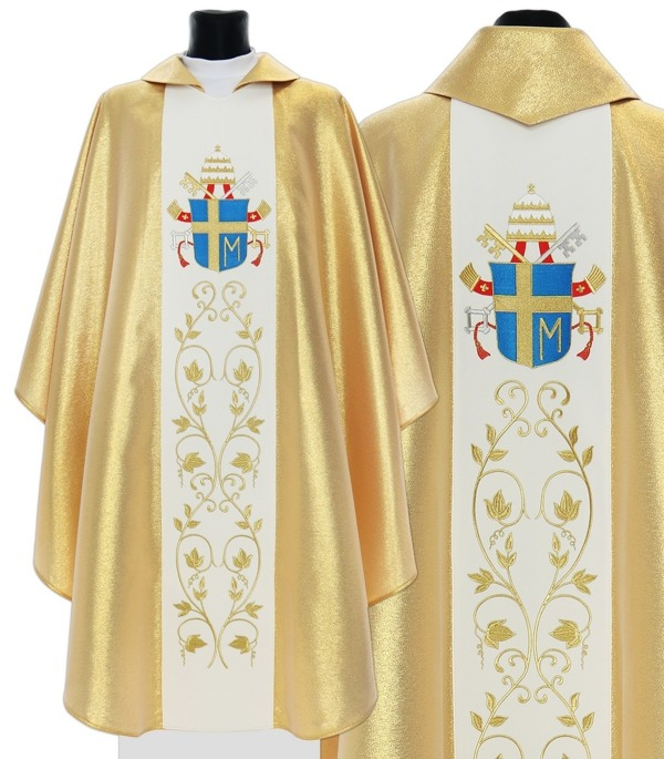 Chasuble with John Paul II's coat of arms model 569