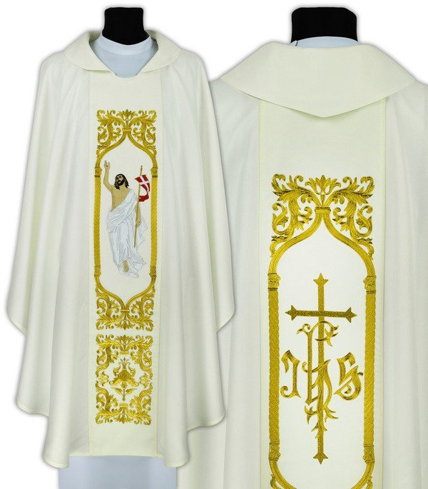 Gothic Chasuble Jesus is Risen model 517