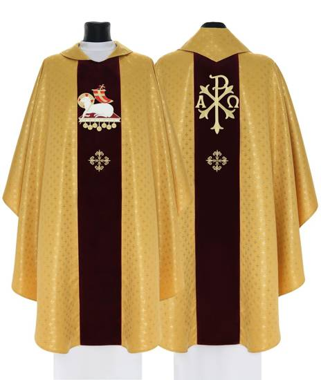 Gothic Chasuble Lamb model 704