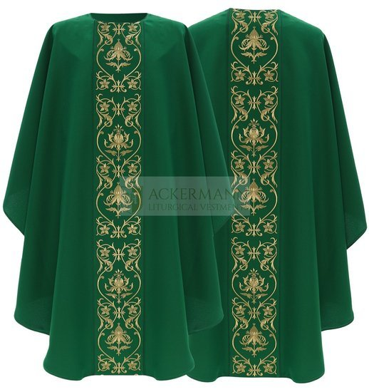 Green Gothic Chasuble model 674