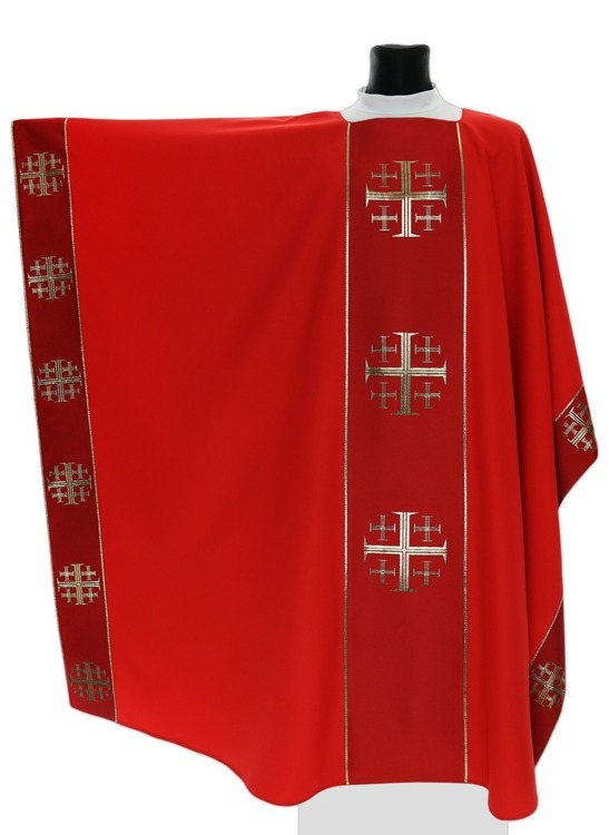 Monastic Chasuble Jerusalem Crosses model 009