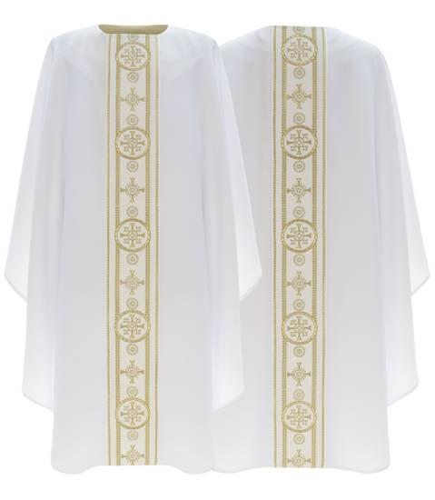 White Gothic Chasuble model 579