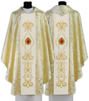 Cream Gothic Chasuble Sacred Heart