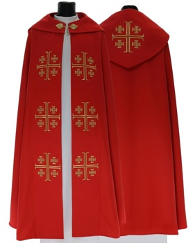Gothic Cope Jerusalem crosse model 723