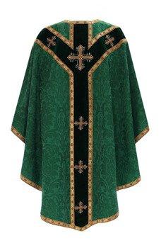 Green Semi Gothic Chasuble model 784