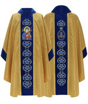 Marian Gothic Chasuble Our Lady of Perpetual Help model 450
