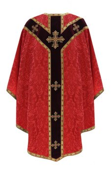 Red Semi Gothic Chasuble model 784