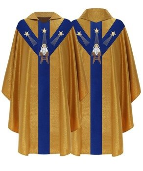 Semi Gothic Chasuble Christmas model 456