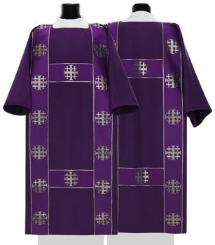 Semi Gothic Dalmatic Jerusalem Crosses model 103