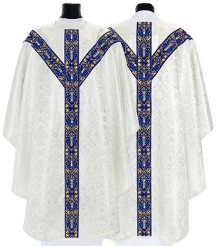 Silver Semi Gothic Chasuble model 637