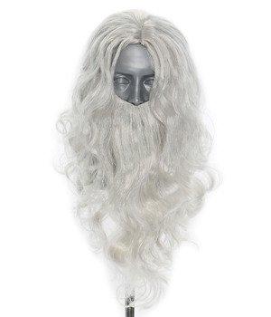 Perruque avec une barbe du Père Noël