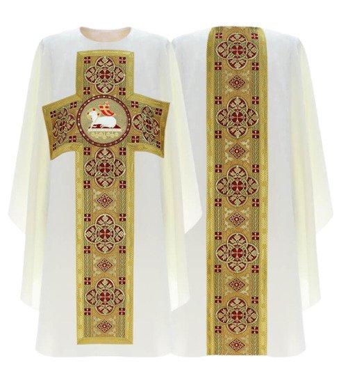 Cream Gothic Chasuble Lamb model 794