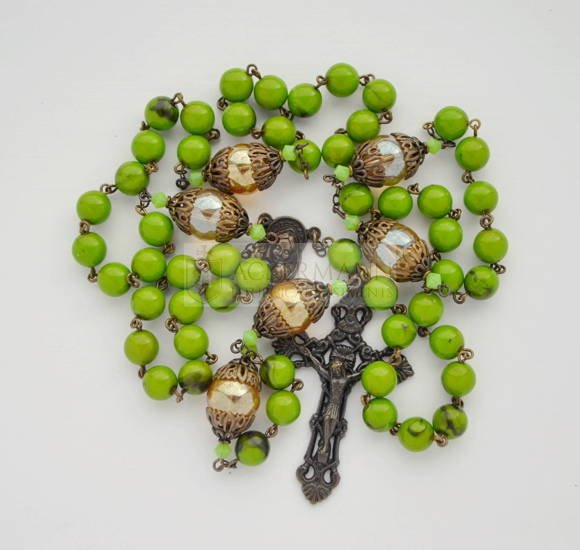 Rosary antique - green