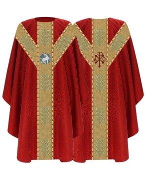 Red Semi Gothic Chasuble Lamb model 791